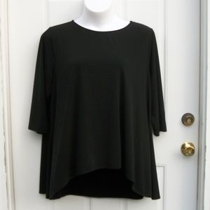 Premise Studio Polyester Spandex Blouse Top Hi Low